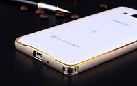 Бампер для Samsung G530H/G531H Galaxy Grand Prime Bumper Metalic Slim Infinity Золотой