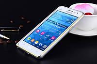 Бампер для Samsung G530H/G531H Galaxy Grand Prime Bumper Metalic Slim Infinity Серебряный