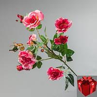 Букет искусственных цветов камелия розовая.