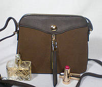 Стильная женская комбинированная сумочка-клатч