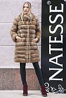 """Шуба полушубок жилет из канадской куницы """"Кристель"""" canadian sable fur coat jacket and vest gilet, фото 1"""