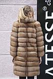 """Шуба полушубок жилет из канадской куницы """"Кристель"""" canadian sable fur coat jacket and vest gilet, фото 2"""