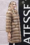 """Шуба полушубок жилет из канадской куницы """"Кристель"""" canadian sable fur coat jacket and vest gilet, фото 3"""