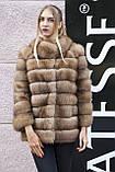 """Шуба полушубок жилет из канадской куницы """"Кристель"""" canadian sable fur coat jacket and vest gilet, фото 6"""