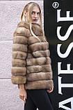 """Шуба полушубок жилет из канадской куницы """"Кристель"""" canadian sable fur coat jacket and vest gilet, фото 7"""