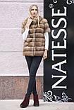 """Шуба полушубок жилет из канадской куницы """"Кристель"""" canadian sable fur coat jacket and vest gilet, фото 8"""