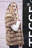"""Шуба полушубок жилет из канадской куницы """"Кристель"""" canadian sable fur coat jacket and vest gilet, фото 9"""