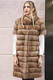 """Шуба полушубок жилет из канадской куницы """"Кристель"""" canadian sable fur coat jacket and vest gilet, фото 4"""