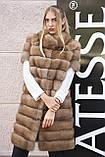 """Шуба полушубок жилет из канадской куницы """"Кристель"""" canadian sable fur coat jacket and vest gilet, фото 5"""