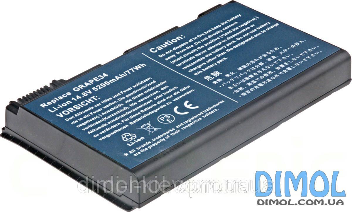 Аккумуляторная батарея для Acer TravelMate 5220 5230 Extensa 5120 series 5200mAh 11.1V