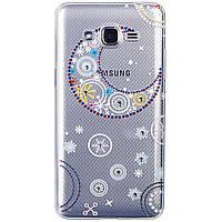 Накладка для Samsung G530H / G531H Galaxy Grand Prime Duos силикон Lucent Diamond Case La Luna