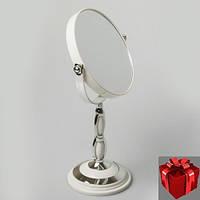Косметическое настольное-круглое зеркало.