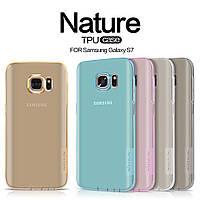 Накладка для Samsung Galaxy S7 Flat G930 силикон Nillkin Nature TPU прозрачный