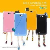 Накладка для Samsung N7100 Galaxy Note 2 пластик Nillkin Shiny голубой (+пленка)