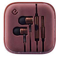Наушники вакуумные с микрофоном Ergo ES-600i Minion Bronze -6220294