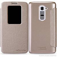 Чехол-Книжка для Samsung I9150/I9152 Galaxy Mega 5.8 Duos Nillkin Fresh Series желтый
