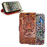Чехол-Книжка для Samsung J100 Galaxy J1 Double Case Butterfly Safari/Leopard