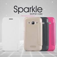 Чехол-Книжка для Samsung J100 Galaxy J1 Nillkin Sparkle Series белый
