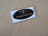 Наклейка s надпись овал Daewoo 45х20х1.2мм cиликоновая эмблема логотип марка бренд на авто Дэу Деу, фото 3