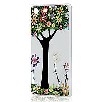 Накладка для Sony Xperia M5 Dual E5633 пластик 0,3mm Infinity Slim Glamour Дерево