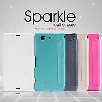 Чехол-Книжка для Sony D5803 Xperia Z3 compact Nillkin Sparkle Series розовый