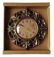 Настенные часы QUARTZ с узором, круглые (3 расцветки)