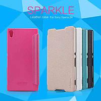 Чехол-Книжка для Sony Xperia Z3+ DS E6533 Nillkin Sparkle Series бирюзовый