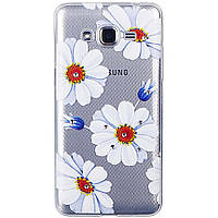 Накладка для Samsung G530H / G531H Galaxy Grand Prime Duos силикон Lucent Diamond Case Daisy