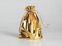 Декоративный мешочек золотистый