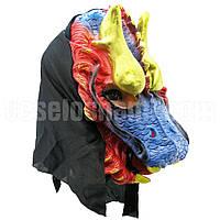 Маска Дракон латексная на хэллоуин   ( карнавальная маска )