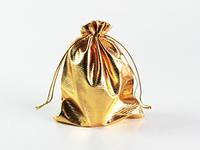 Оригинальный мешочек подарочный золотистый