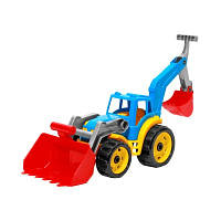 "Игрушка ""Трактор с двумя ковшами ТехноК"", арт. 3671 размер  50 х 30 х 16 см VK"