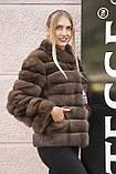 """Полушубок из соболя """"Каприз"""" sable jacket fur coat, фото 4"""