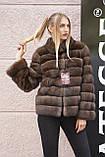 """Полушубок из соболя """"Каприз"""" sable jacket fur coat, фото 6"""