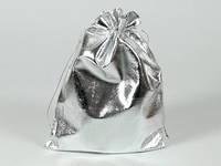 Мешочек серебристый подарочный