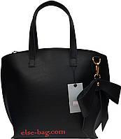 Женская сумка с бантом черная