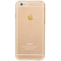 Накладка для iPhone 6 / 6S силикон TPU Fashion Case Swarovski Золотой