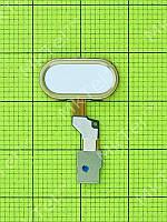Шлейф сенсорной кнопки Home Meizu M3s White (high copy)