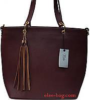 Большая женская сумка с кисточкой, фото 1
