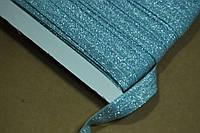 Бейка резинка трикотаж парча нежно голубая