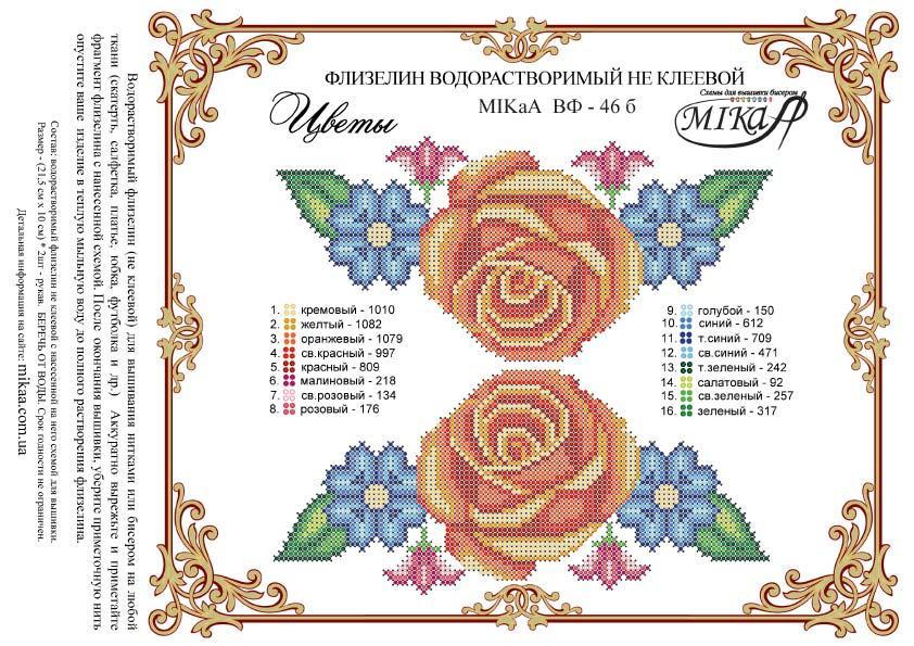 """Схема для вишивки """"Квіти"""" - рукави"""