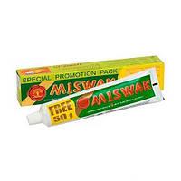 Зубная паста натуральная без фтора Египет Meswak Miswak Мисвак Dabur 75г
