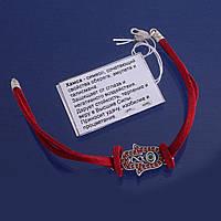 Браслет кожаный с серебяным кулоном Хамса, Рука Давида, Защита от сглаза