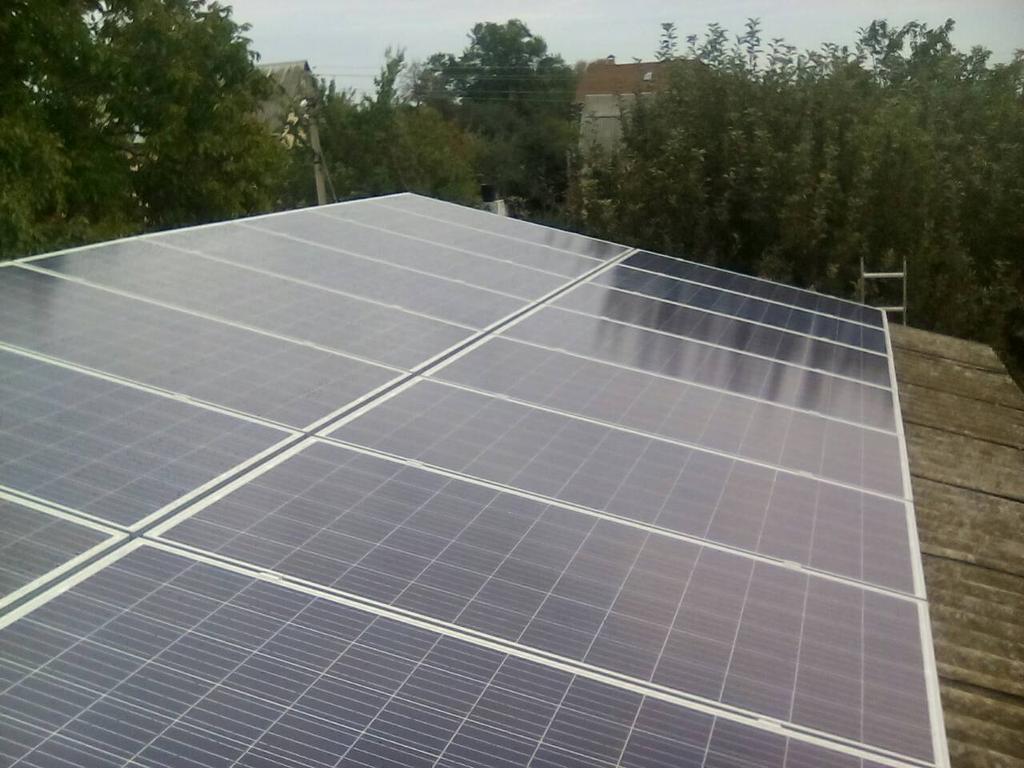 г. Полтава, Полтавская обл., домашняя сетевая солнечная электростанция 6 кВт Fronius под зеленый тариф