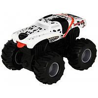 Hot Wheels Monster Jam Внедорожник джип инерционный 1:43 Scale Rev Tredz Monster Mutt Dalmatian Vehicle