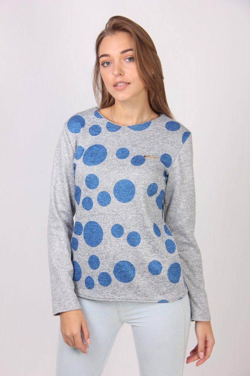 a4bb20b2cd9 Серая кофта в разноразмерные круги - Оптово - розничный магазин одежды