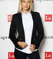Черный пиджак женский школьный, для офиса
