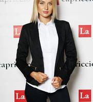 Черный пиджак женский школьный, для офиса, фото 1