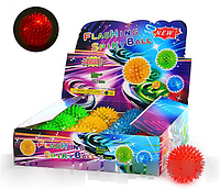 Детская игрушка Мяч массажный M 0086 U/R светящийся HN