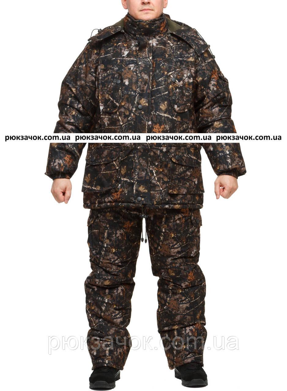 """Теплый зимний костюм для отдыха на природе """"Ночной лес"""" размер 52-54"""